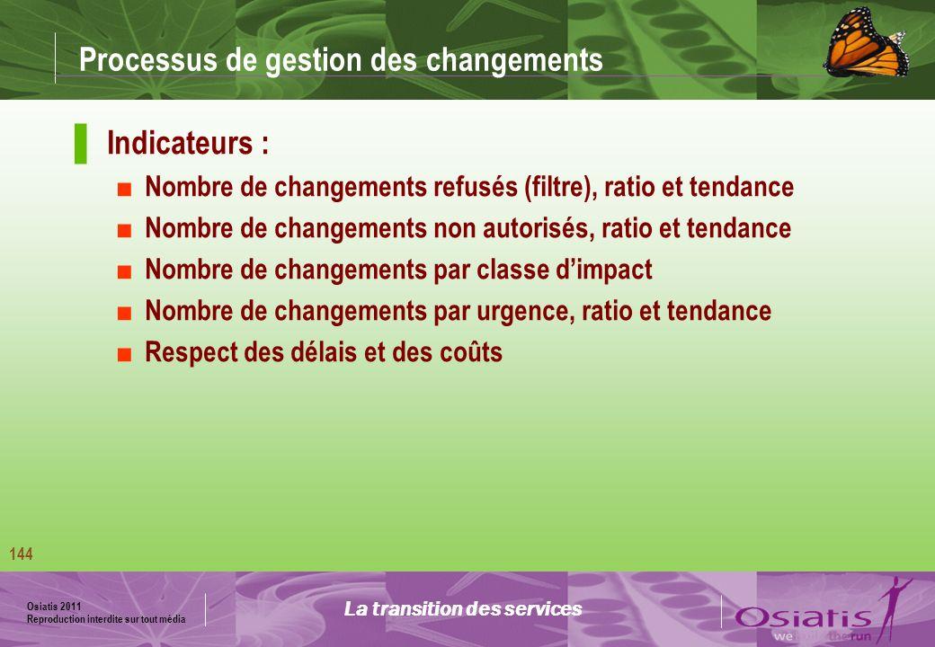 Processus de gestion des changements