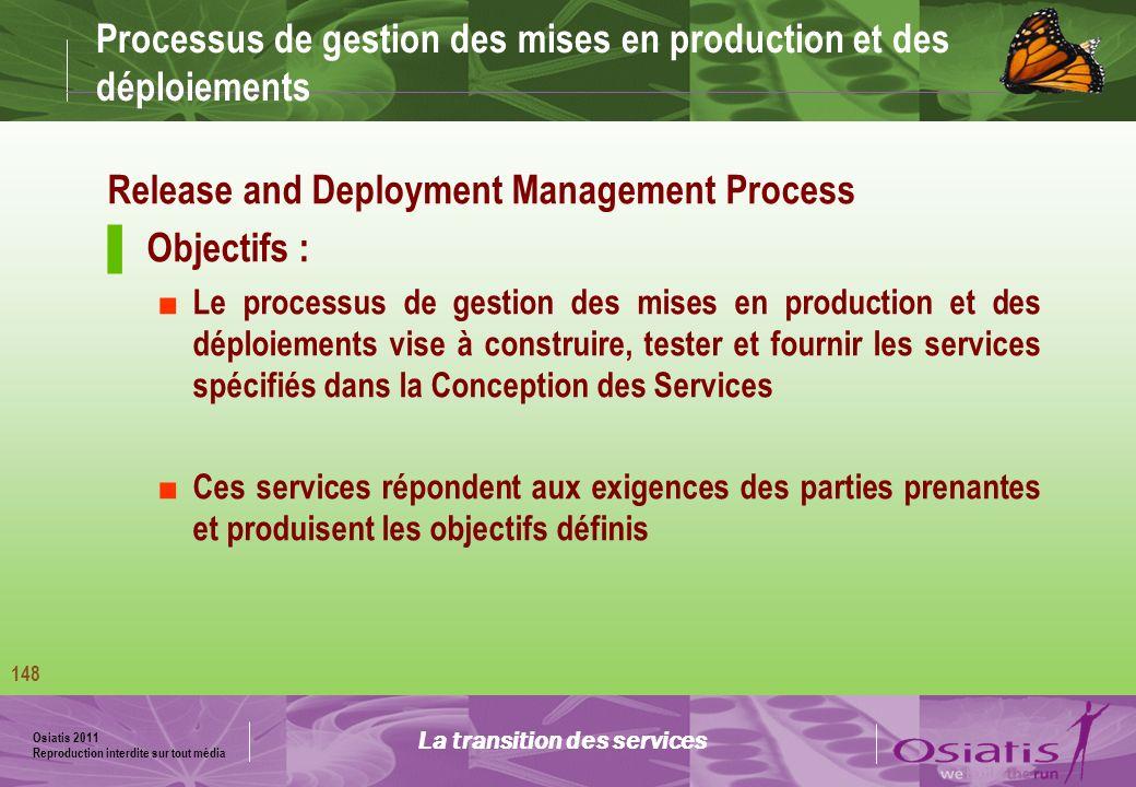 Processus de gestion des mises en production et des déploiements