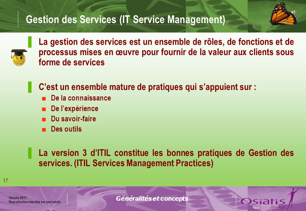 Gestion des Services (IT Service Management)