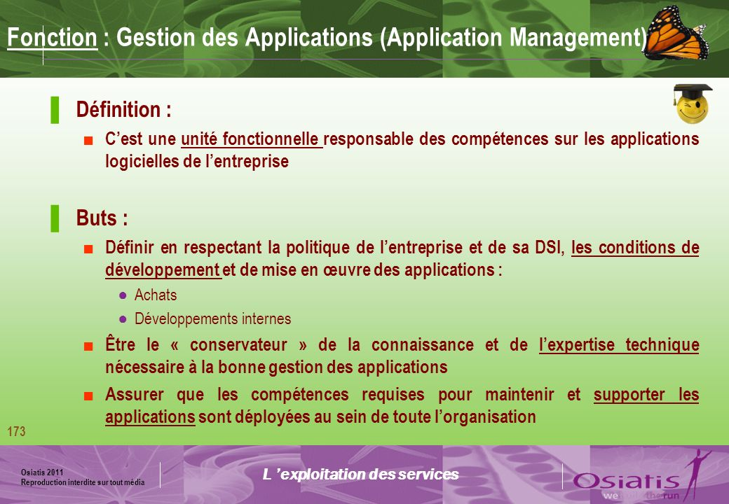 Fonction : Gestion des Applications (Application Management)