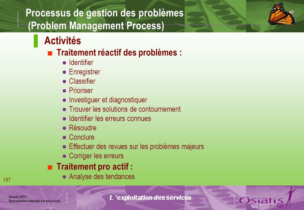 Processus de gestion des problèmes (Problem Management Process)