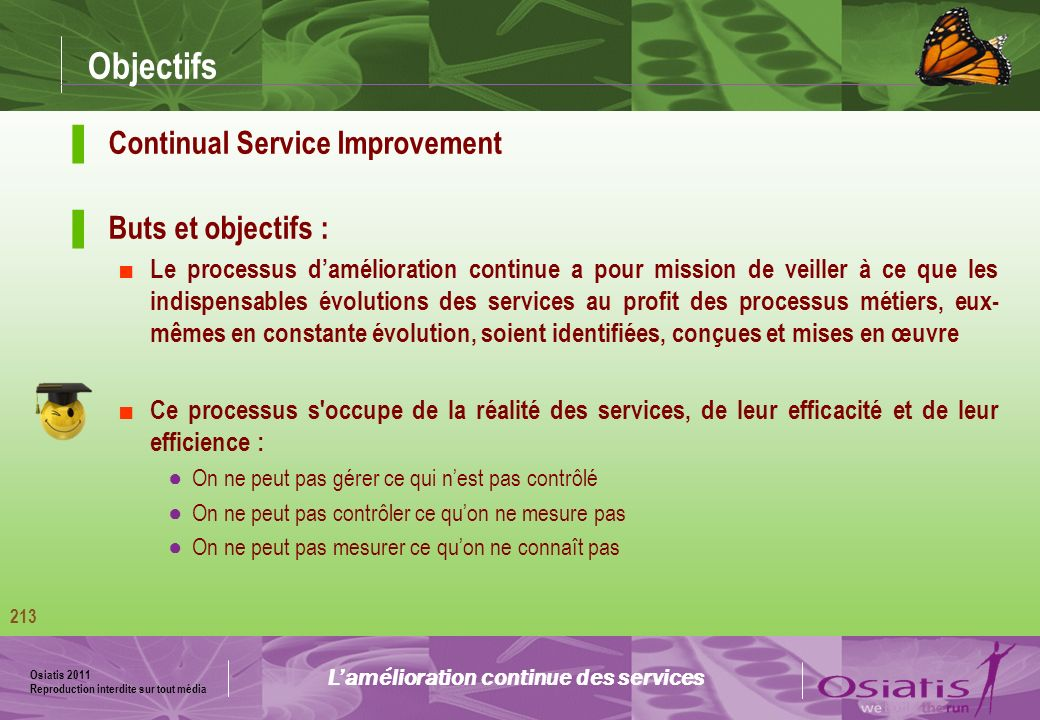 L'amélioration continue des services