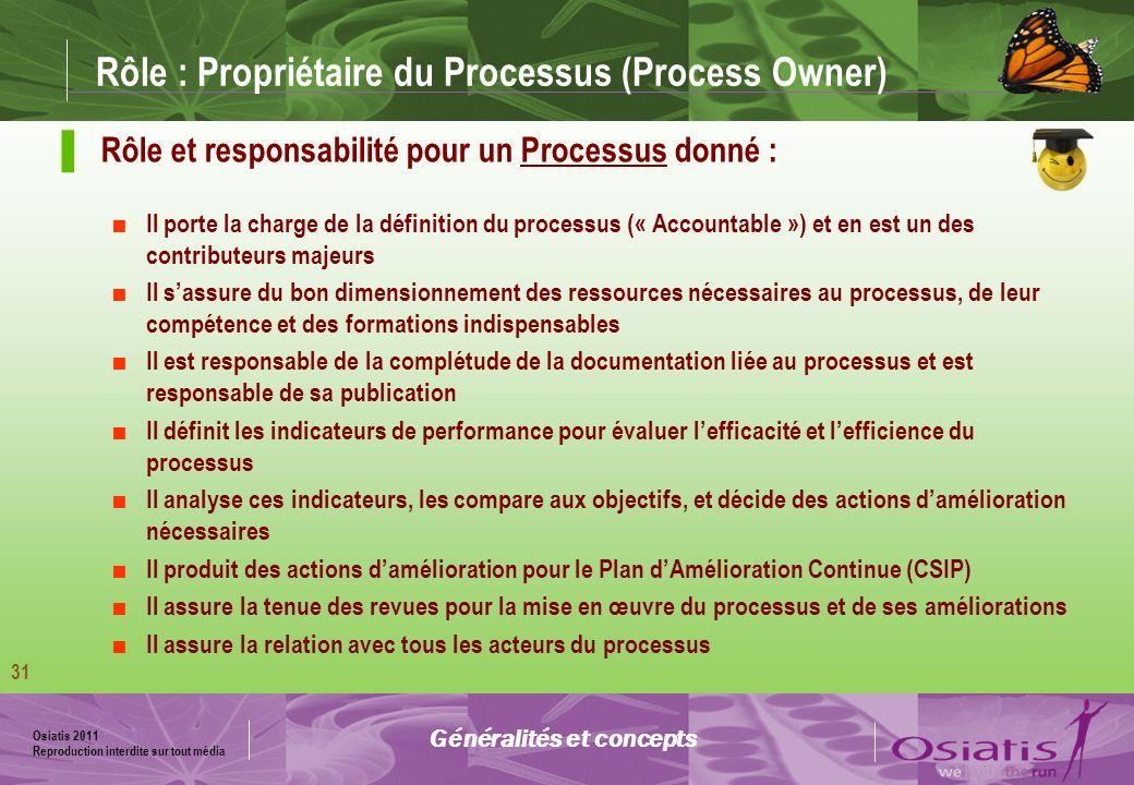 Rôle : Propriétaire du Processus (Process Owner)