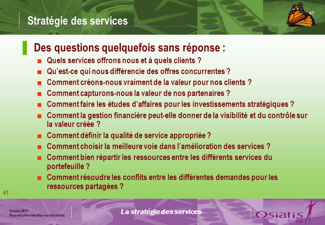 Stratégie des services