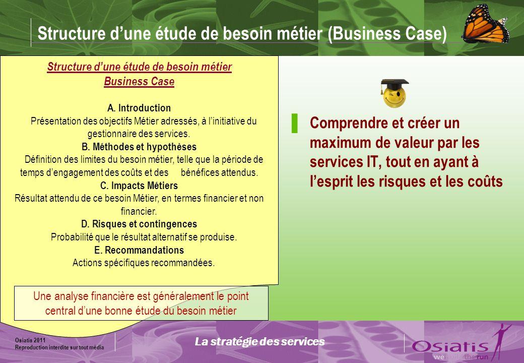 Structure d'une étude de besoin métier (Business Case)