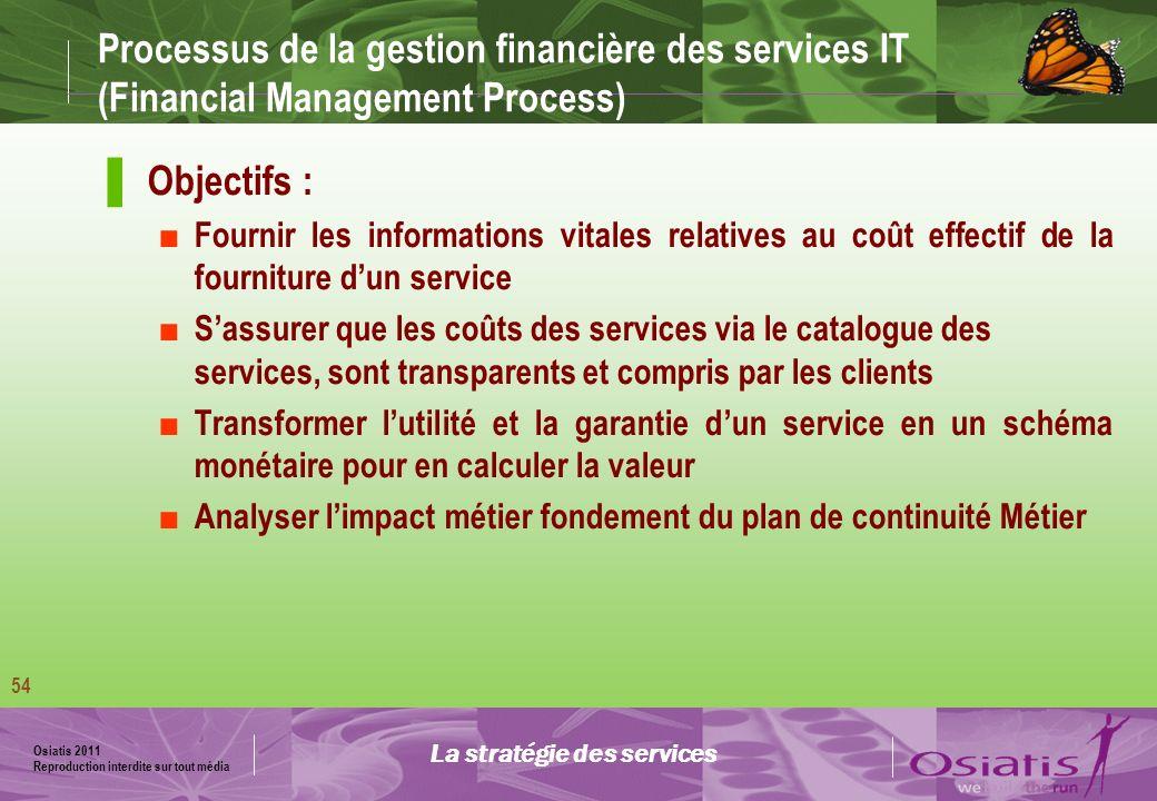 La stratégie des services