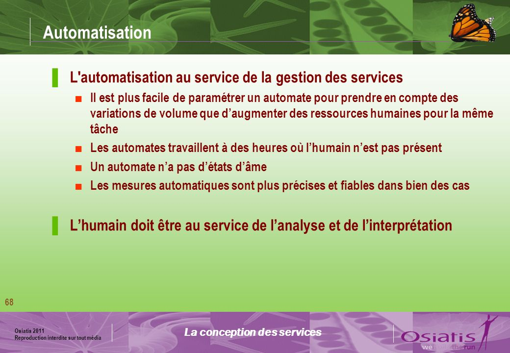 La conception des services