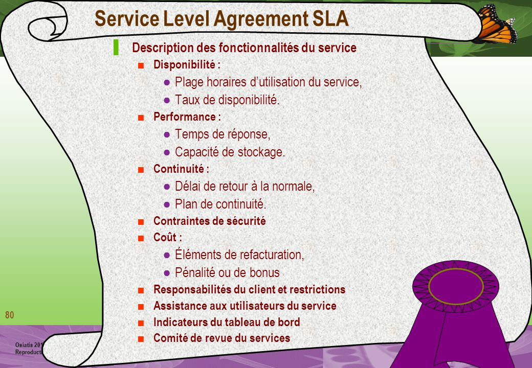 Service Level Agreement SLA