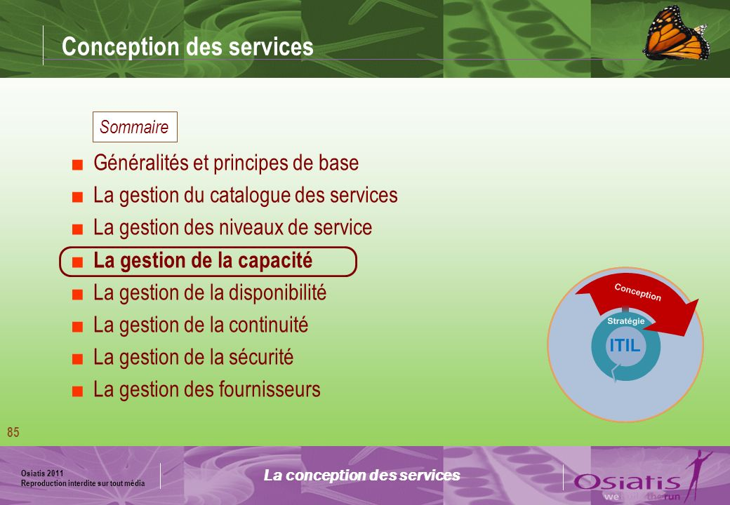 Conception des services