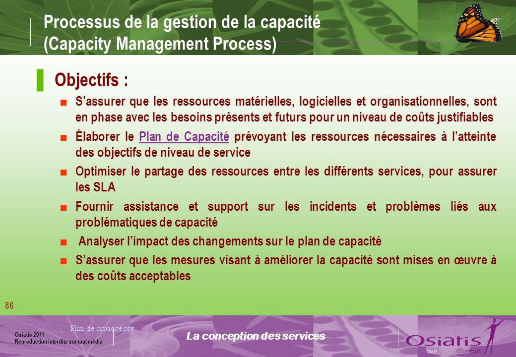 Processus de la gestion de la capacité (Capacity Management Process)