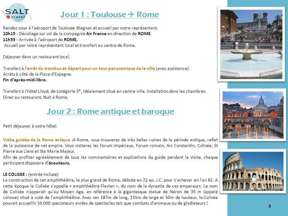 Jour 2 : Rome antique et baroque