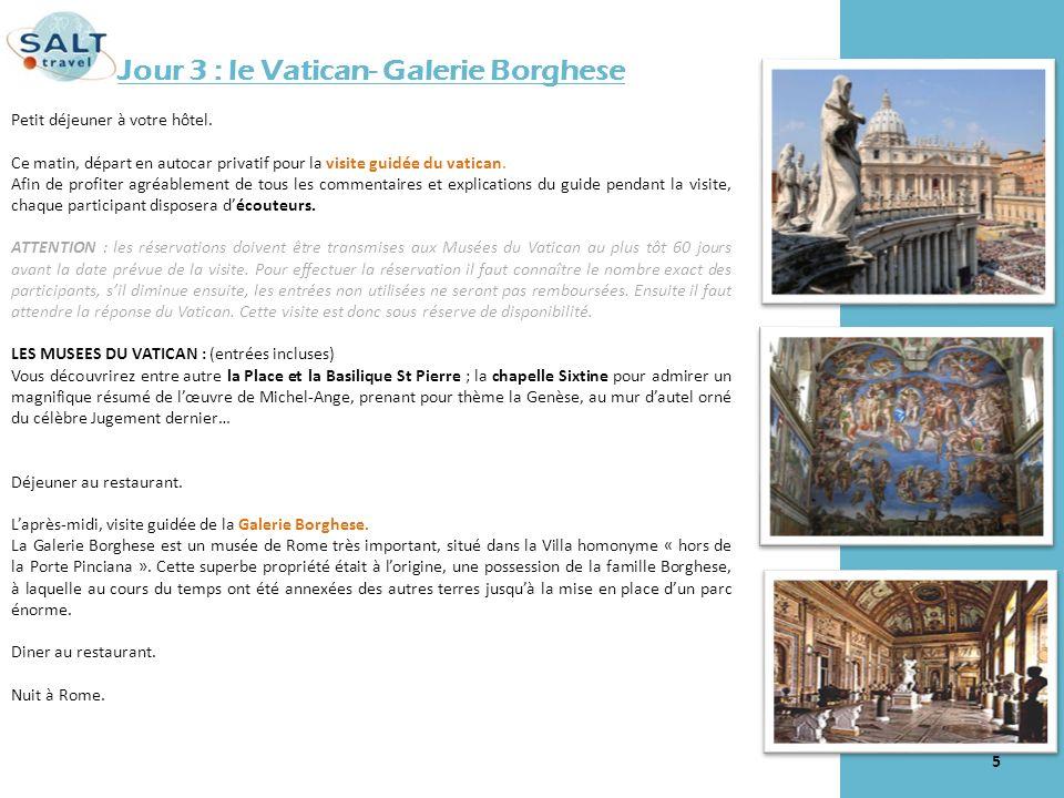 Jour 3 : le Vatican- Galerie Borghese