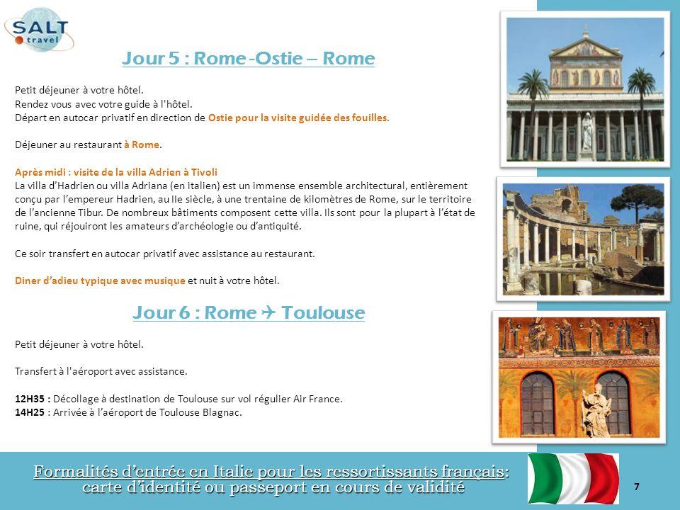 Jour 5 : Rome -Ostie – Rome