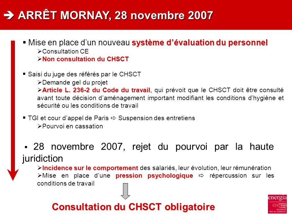 Consultation du CHSCT obligatoire