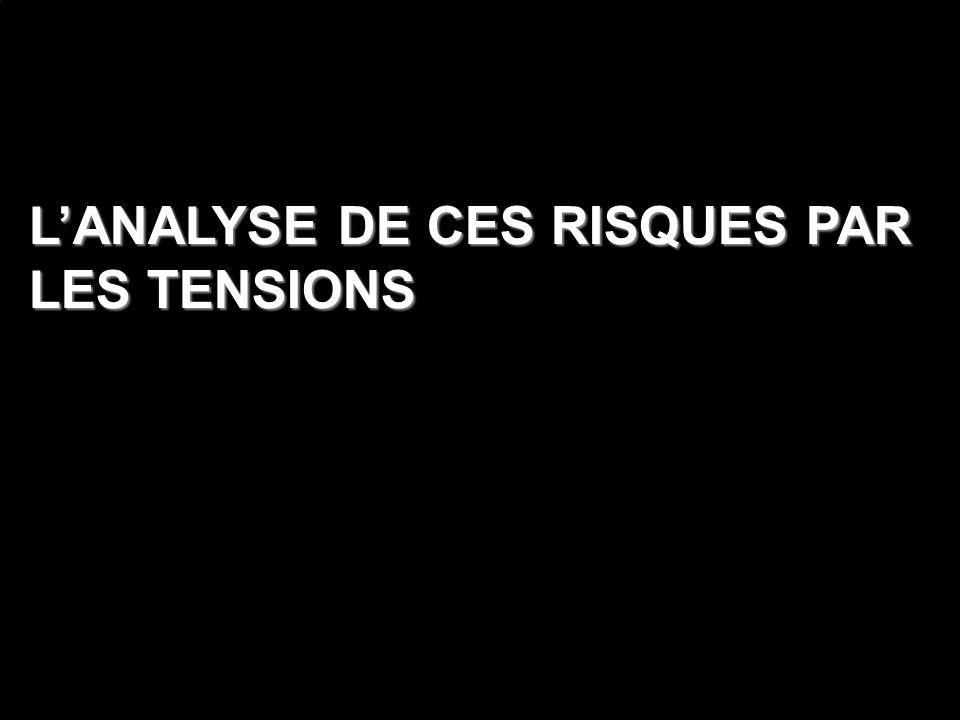 L'ANALYSE DE CES RISQUES PAR LES TENSIONS