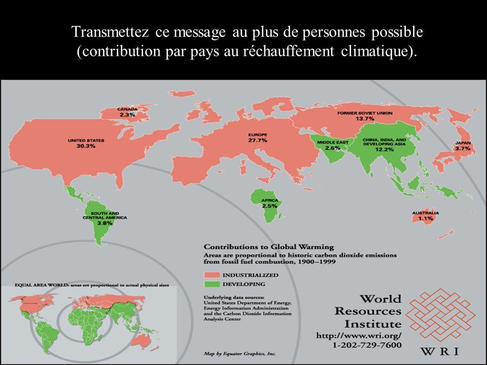 Transmettez ce message au plus de personnes possible (contribution par pays au réchauffement climatique).