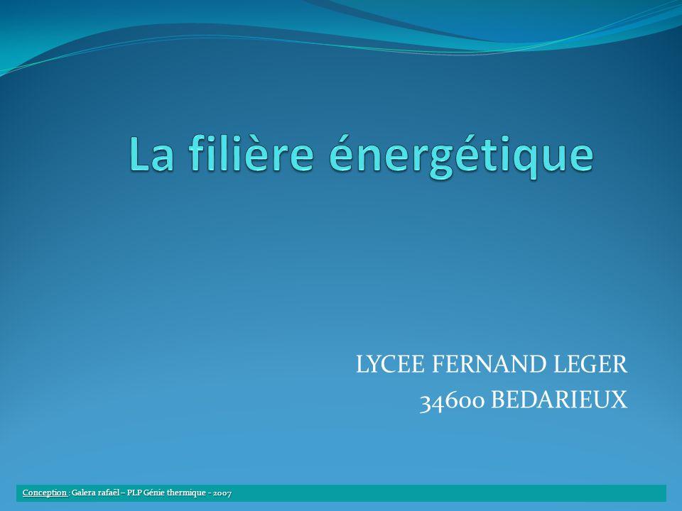 La filière énergétique