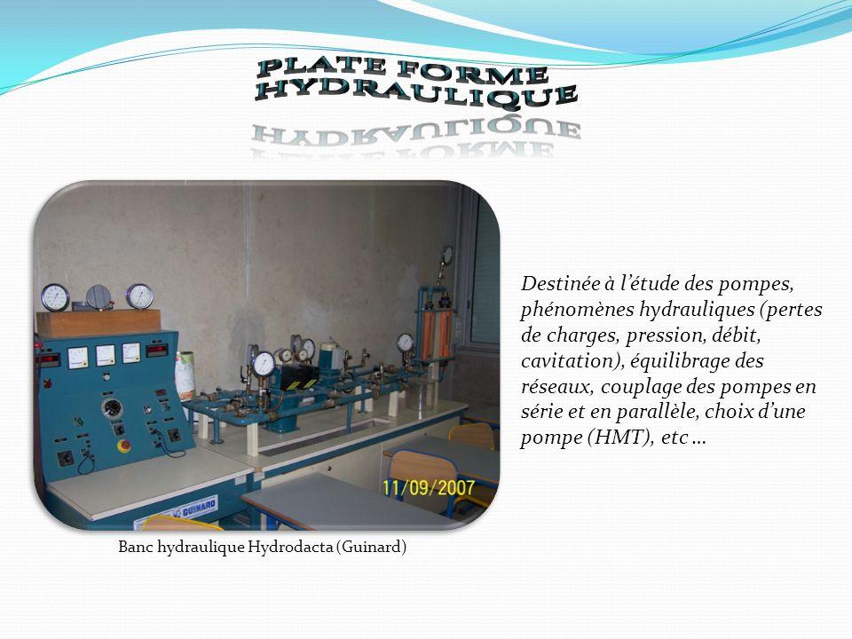Banc hydraulique Hydrodacta (Guinard)