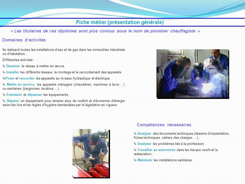 Fiche métier (présentation générale)