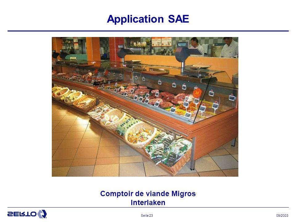 Comptoir de viande Migros Interlaken
