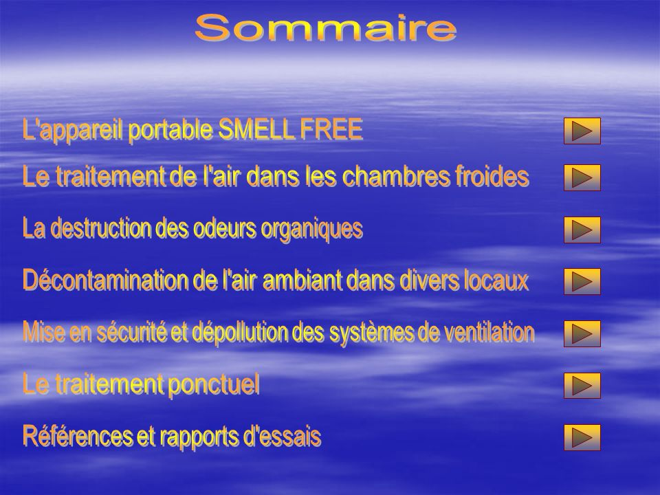 Sommaire L appareil portable SMELL FREE