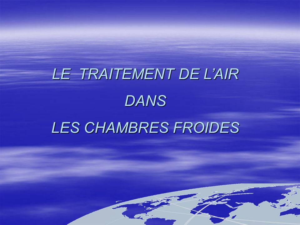 LE TRAITEMENT DE L'AIR DANS LES CHAMBRES FROIDES