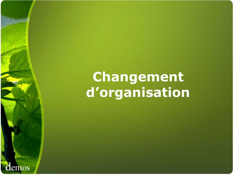 Changement d'organisation