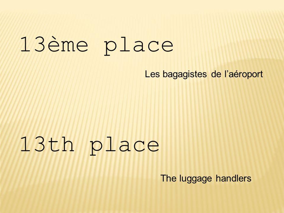 13ème place 13th place Les bagagistes de l'aéroport