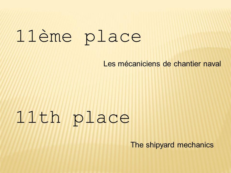 11ème place 11th place Les mécaniciens de chantier naval