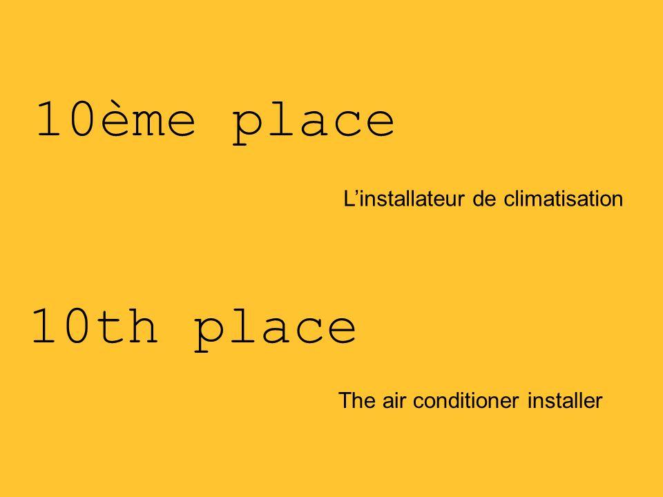 10ème place 10th place L'installateur de climatisation