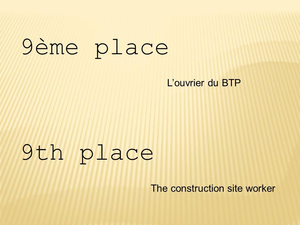 9ème place L'ouvrier du BTP 9th place The construction site worker