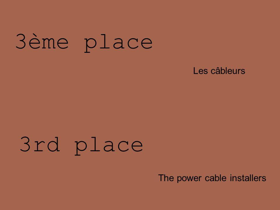 3ème place Les câbleurs 3rd place The power cable installers