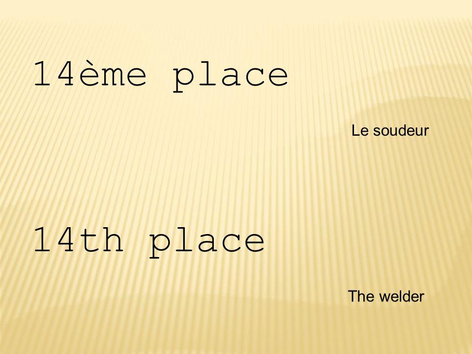 14ème place Le soudeur 14th place The welder