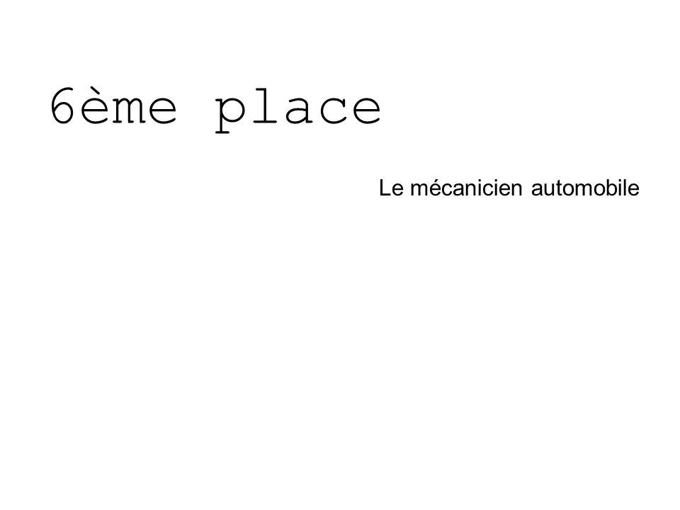 6ème place Le mécanicien automobile