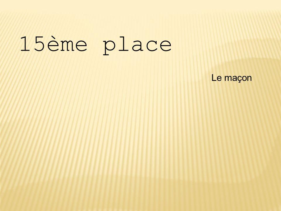 15ème place Le maçon