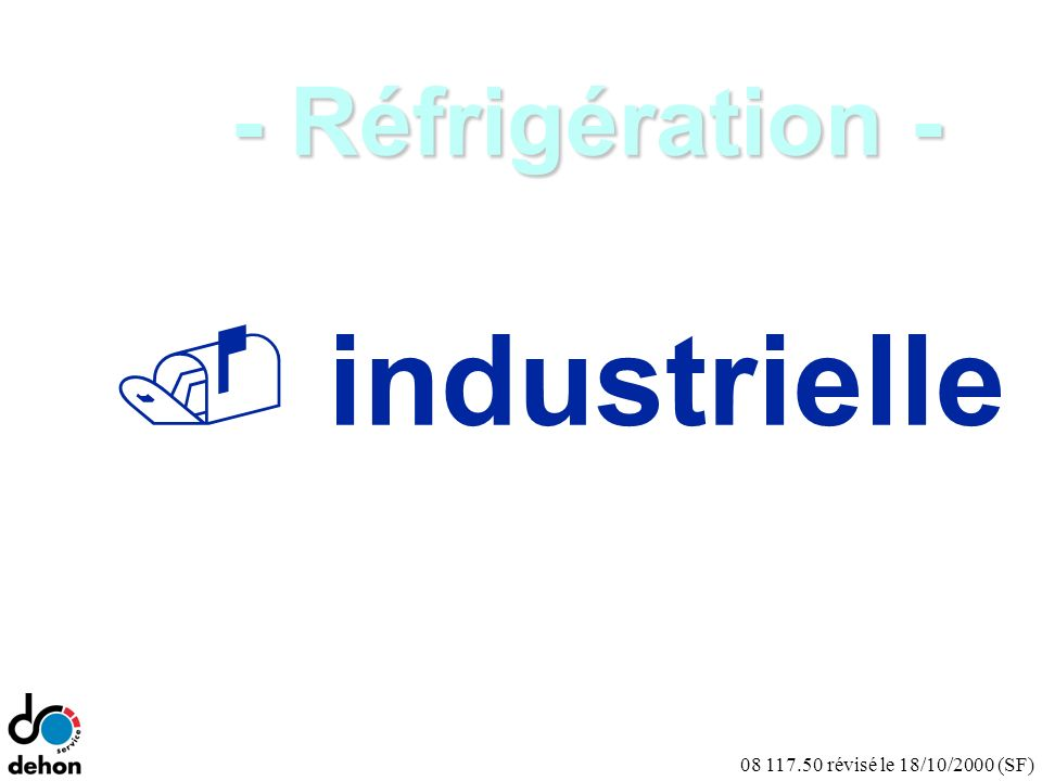 - Réfrigération - industrielle Notes