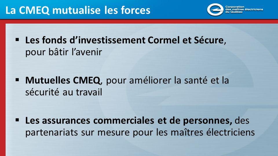 La CMEQ mutualise les forces