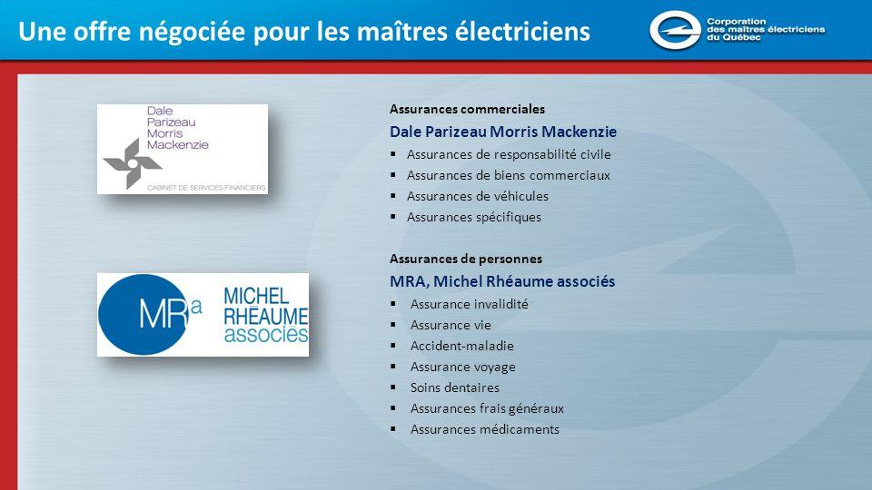 Une offre négociée pour les maîtres électriciens