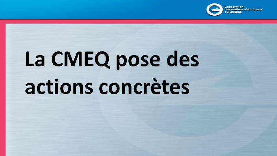 La CMEQ pose des actions concrètes