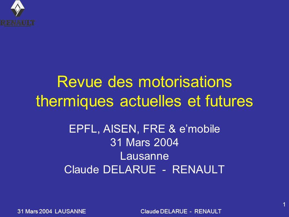 Revue des motorisations thermiques actuelles et futures