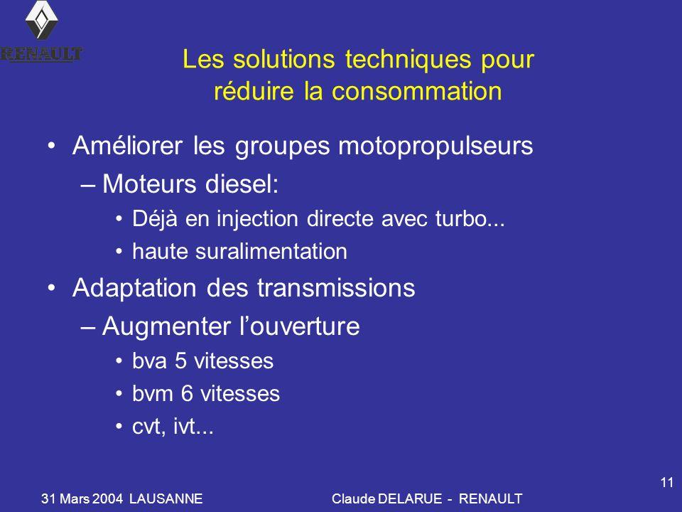 Les solutions techniques pour réduire la consommation