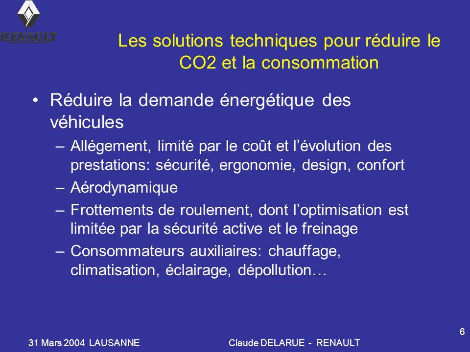 Les solutions techniques pour réduire le CO2 et la consommation