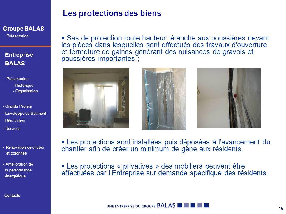 Les protections des biens