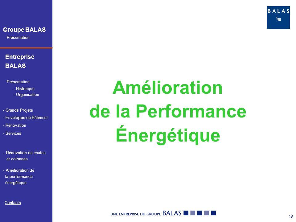 Amélioration de la Performance Énergétique