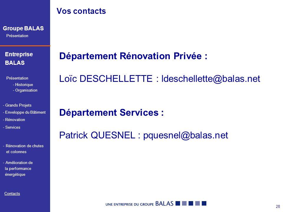 Département Rénovation Privée :