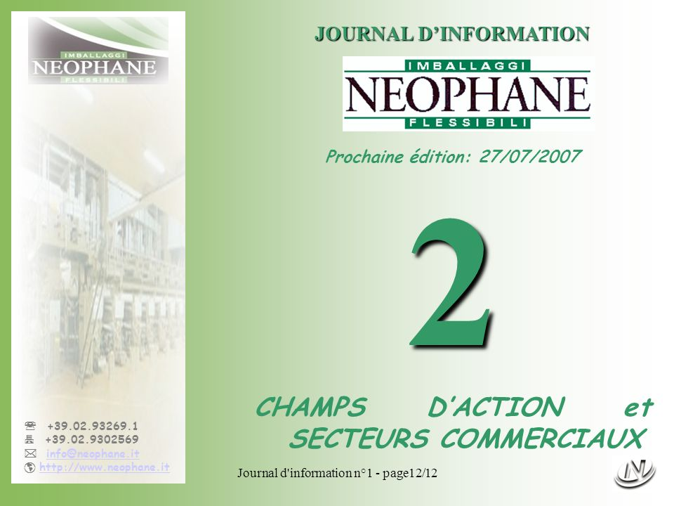 JOURNAL D'INFORMATION