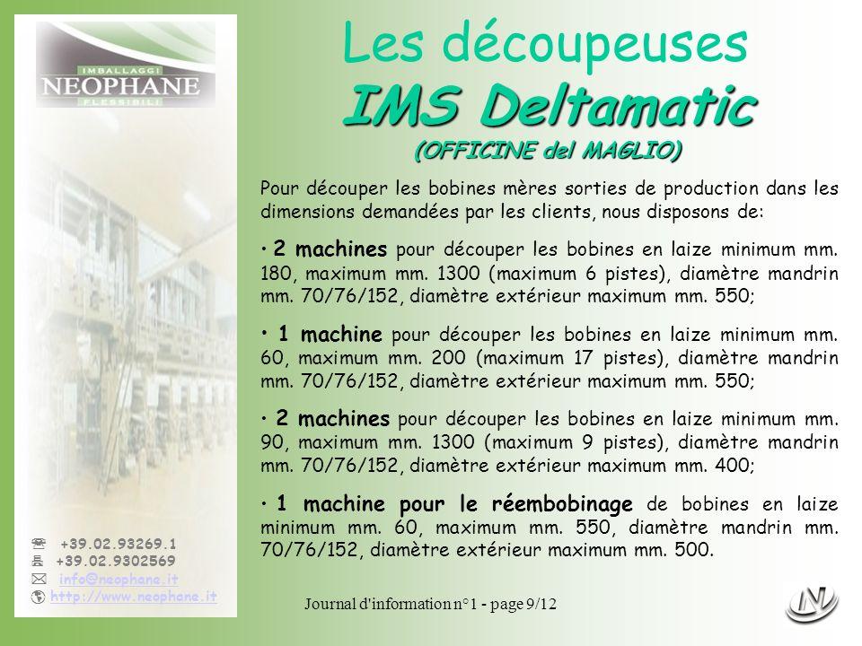 Les découpeuses IMS Deltamatic (OFFICINE del MAGLIO)