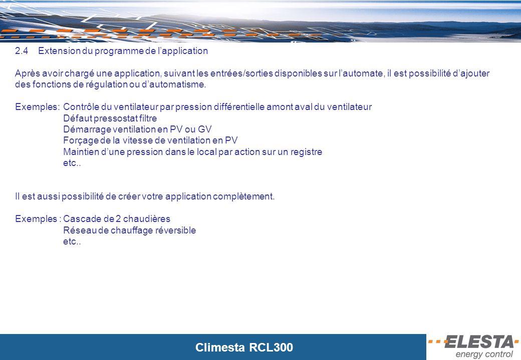 2.4 Extension du programme de l'application