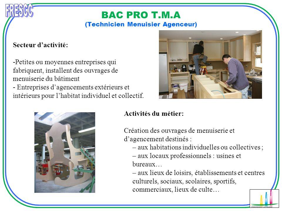 BAC PRO T.M.A (Technicien Menuisier Agenceur)