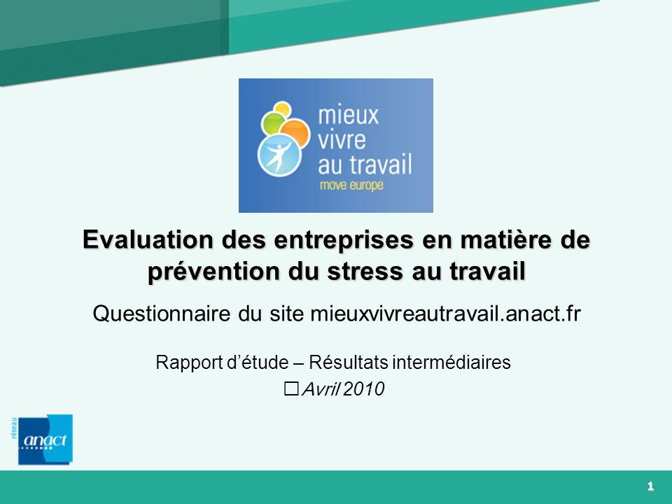 Rapport d'étude – Résultats intermédiaires Avril 2010